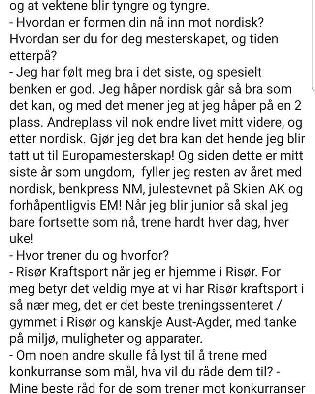 @torjusen_lifts løfter snart på nordisk. Les hele intervjuet med han på vår facebooksiden.