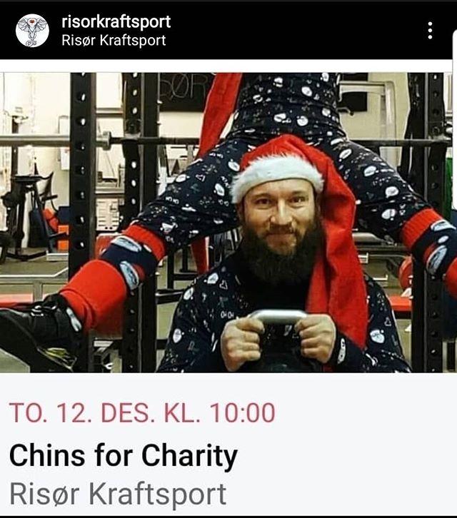 I morra, er dagen! Gjør chins hos oss mellom 10-18 og bidra til en bedre jul for barn i nærmiljøet! Hjelp oss å hjelpe, del og tagg! Har du ikke tatt Chins hjelper vi deg å ta din første!Våre sponsorer:ResolveLeadership by heartTotal kraft